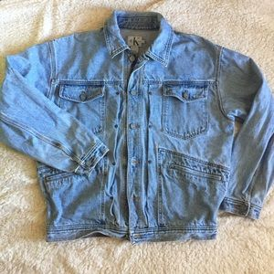 Vintage Calvin Klein Jean Denim Jacket Light Wash